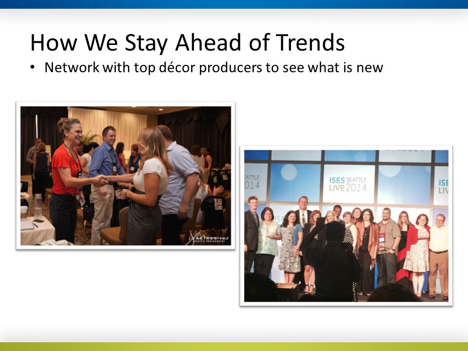 How We Stay Ahead of Trends Network with top décor producers to see what is new