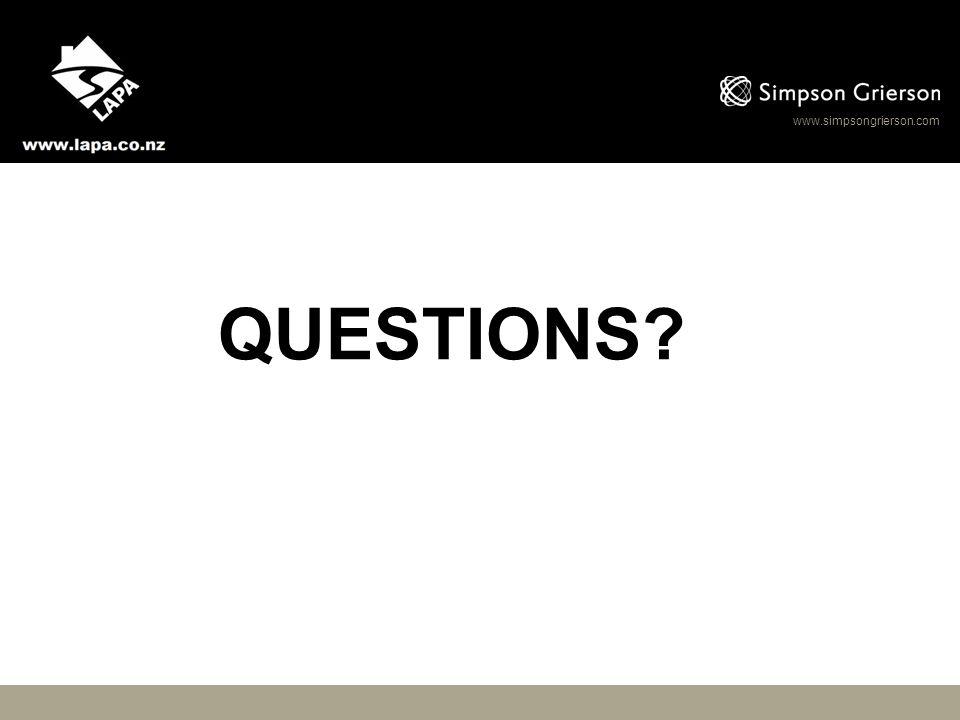 www.simpsongrierson.com QUESTIONS