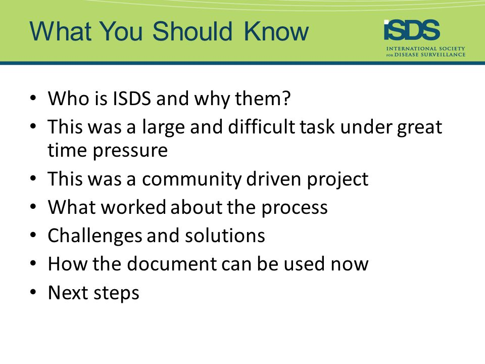 Who is ISDS and Why Them.