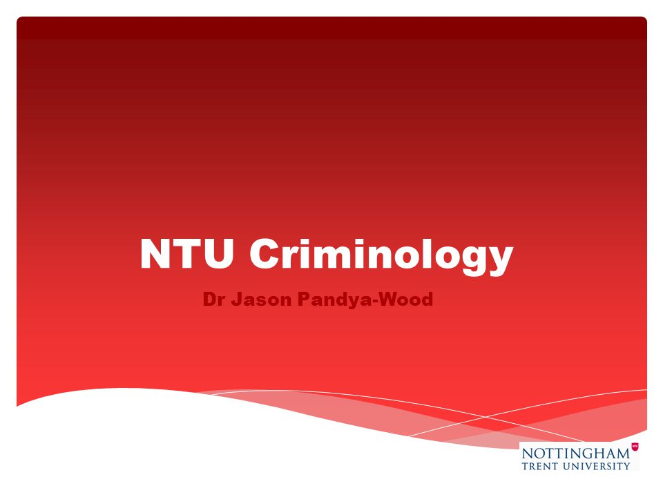 NTU Criminology Dr Jason Pandya-Wood