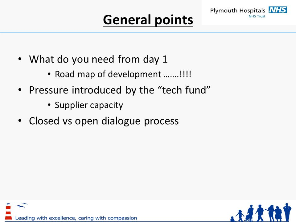 General points What do you need from day 1 Road map of development …….!!!.