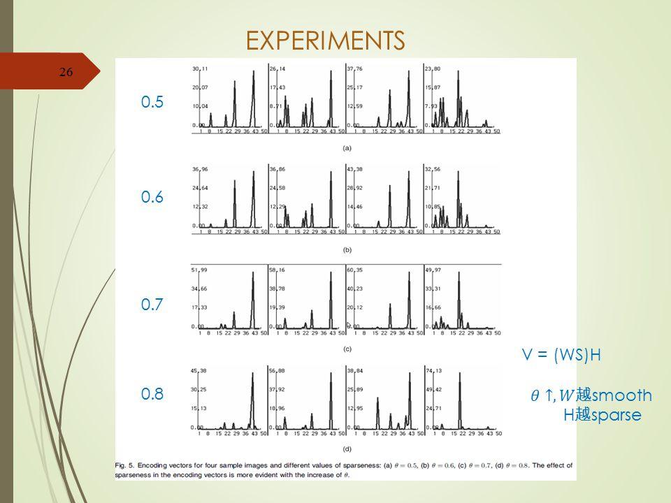 EXPERIMENTS 26 0.5 0.6 0.7 0.8