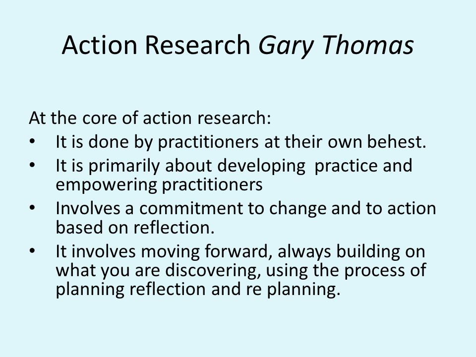 Reflection How are you going to get research off the ground at your school.