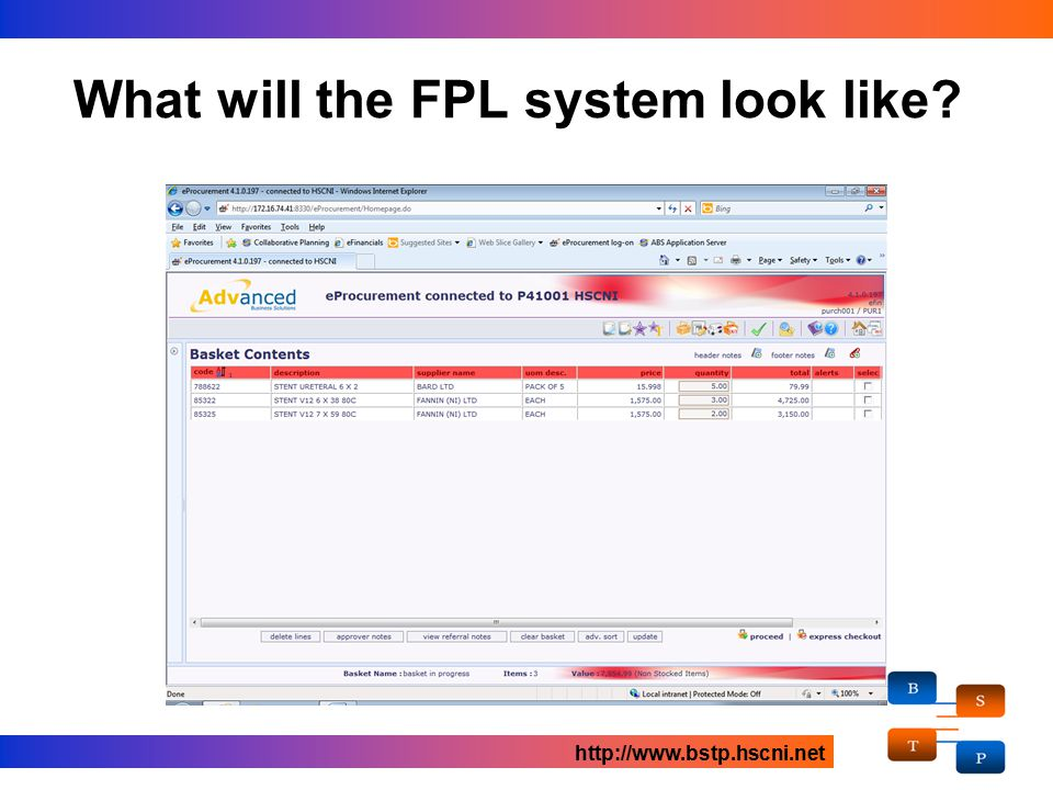 What will the FPL system look like? http://www.bstp.hscni.net