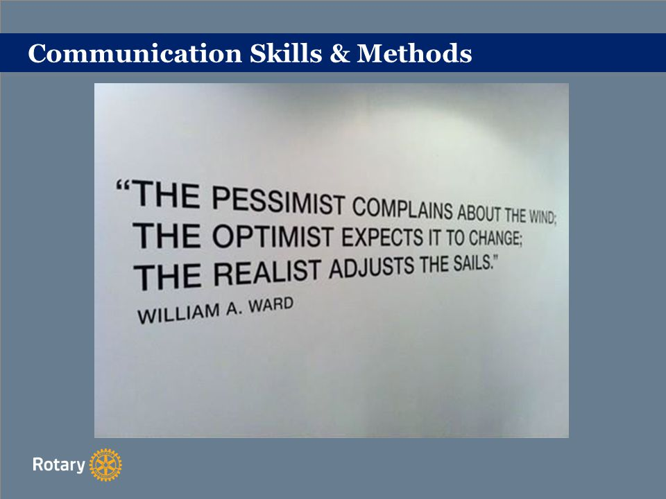 Communication Skills & Methods
