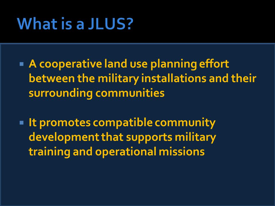  Other ways we engaged  JLUS Policy Committee Chairman penned op ed ▪ Pledged to work together to solve emerging issues  Eglin base commander supported JLUS process ▪ Vice chair of JLUS Policy Committee  In the end, we may have lost the battle….