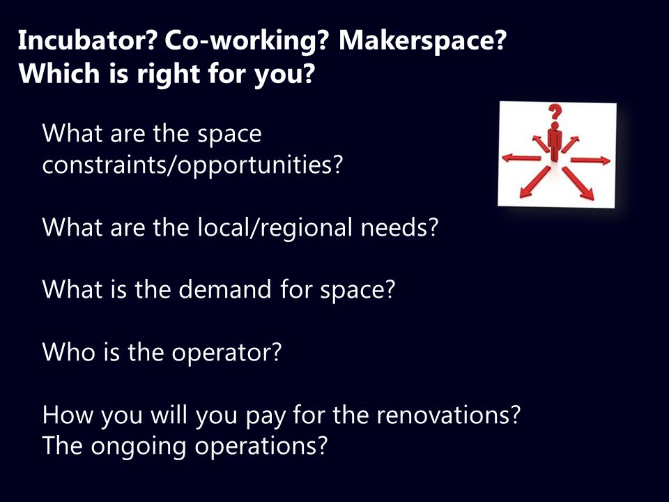 What are the space constraints/opportunities. What are the local/regional needs.