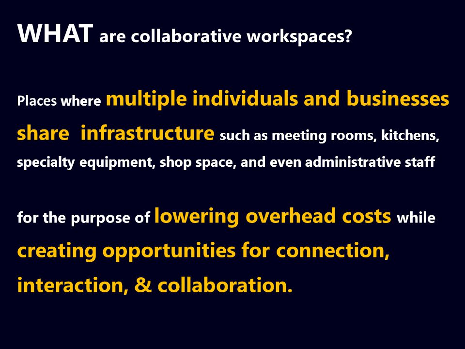 WHAT are collaborative workspaces.