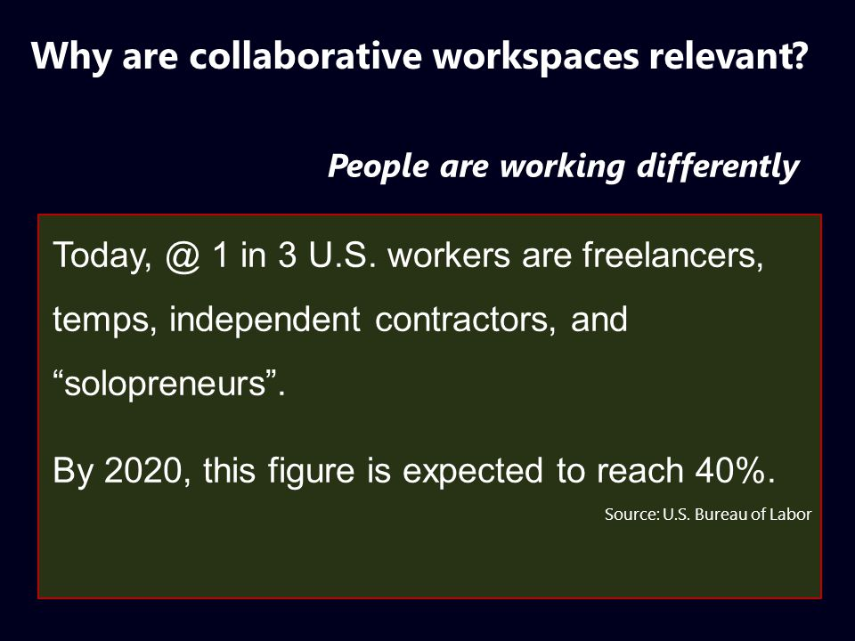 Multiple types of workspaces