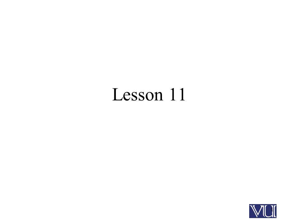 1 Lesson 11