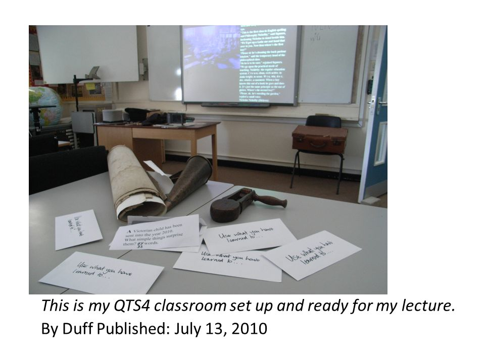 This is my QTS4 classroom set up and ready for my lecture. By Duff Published: July 13, 2010