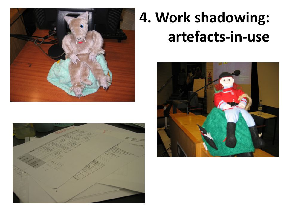 4. Work shadowing: artefacts-in-use