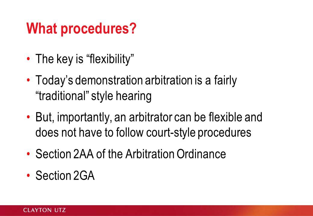 What procedures.