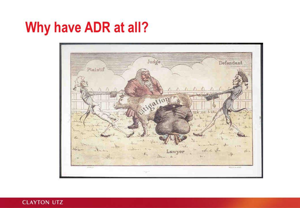 New Style ADR Procedures??