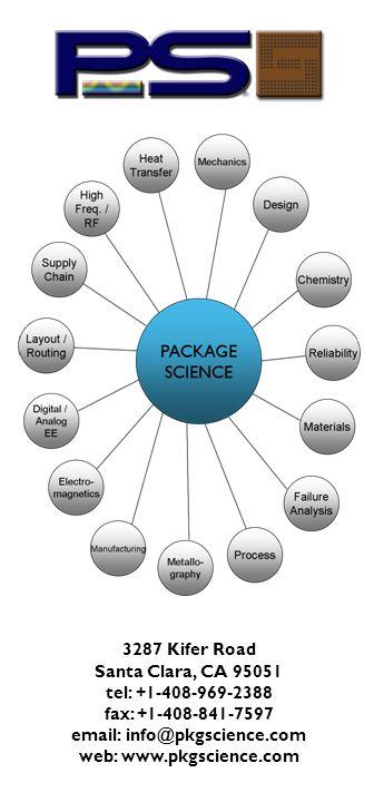 3287 Kifer Road Santa Clara, CA 95051 tel: +1-408-969-2388 fax: +1-408-841-7597 email: info@pkgscience.com web: www.pkgscience.com
