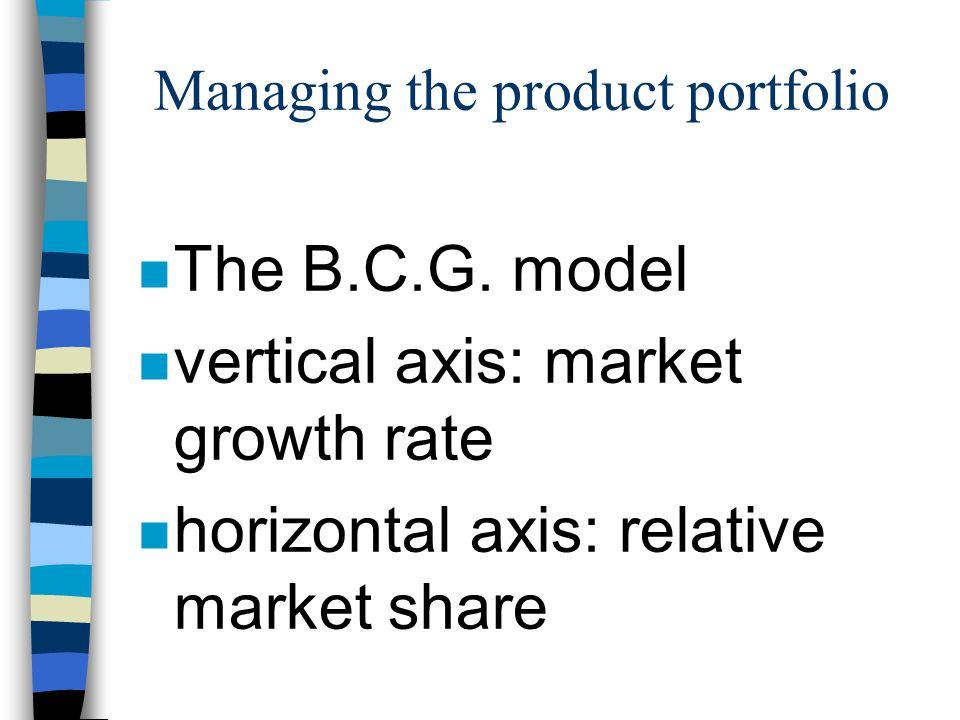 Managing the product portfolio n The B.C.G.