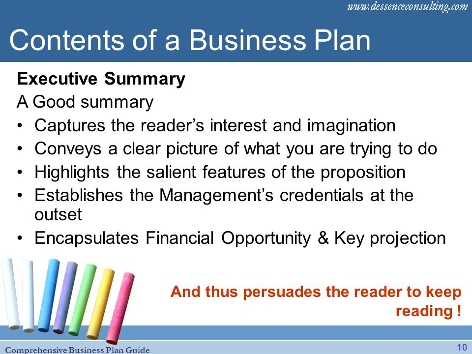 Brief business plan template