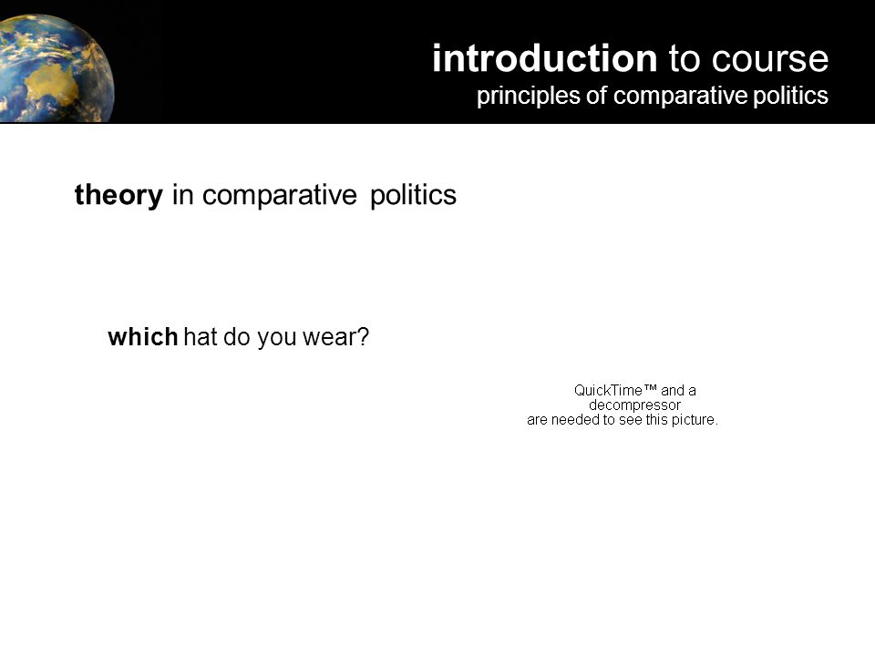 theory in comparative politics which hat do you wear.