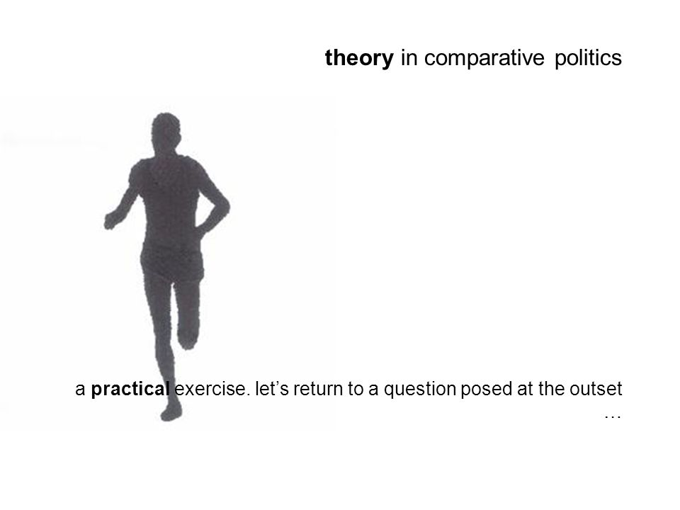 theory in comparative politics a practical exercise.
