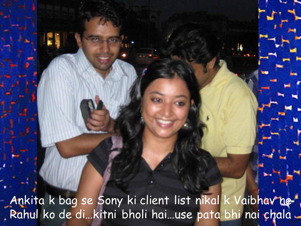Ankita k bag se Sony ki client list nikal k Vaibhav ne Rahul ko de di…kitni bholi hai…use pata bhi nai chala