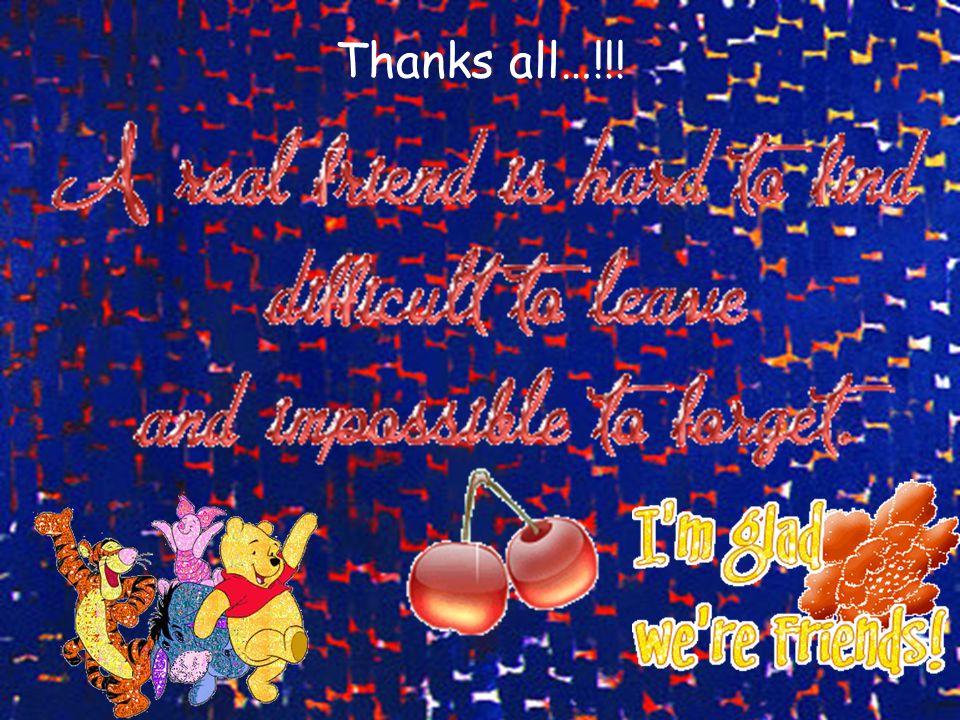 Thanks all…!!!