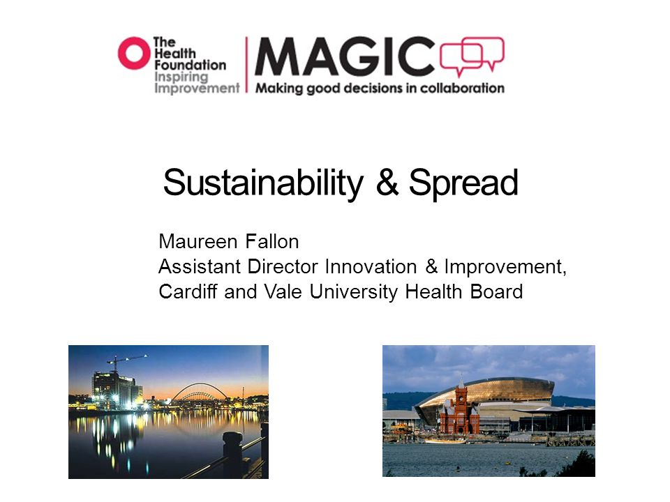 Sustainability Means…….Holding the improvements and evolving as required ALTHOUGH……..