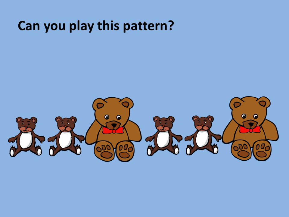 Can you make a LOUD and quiet pattern with your partner?
