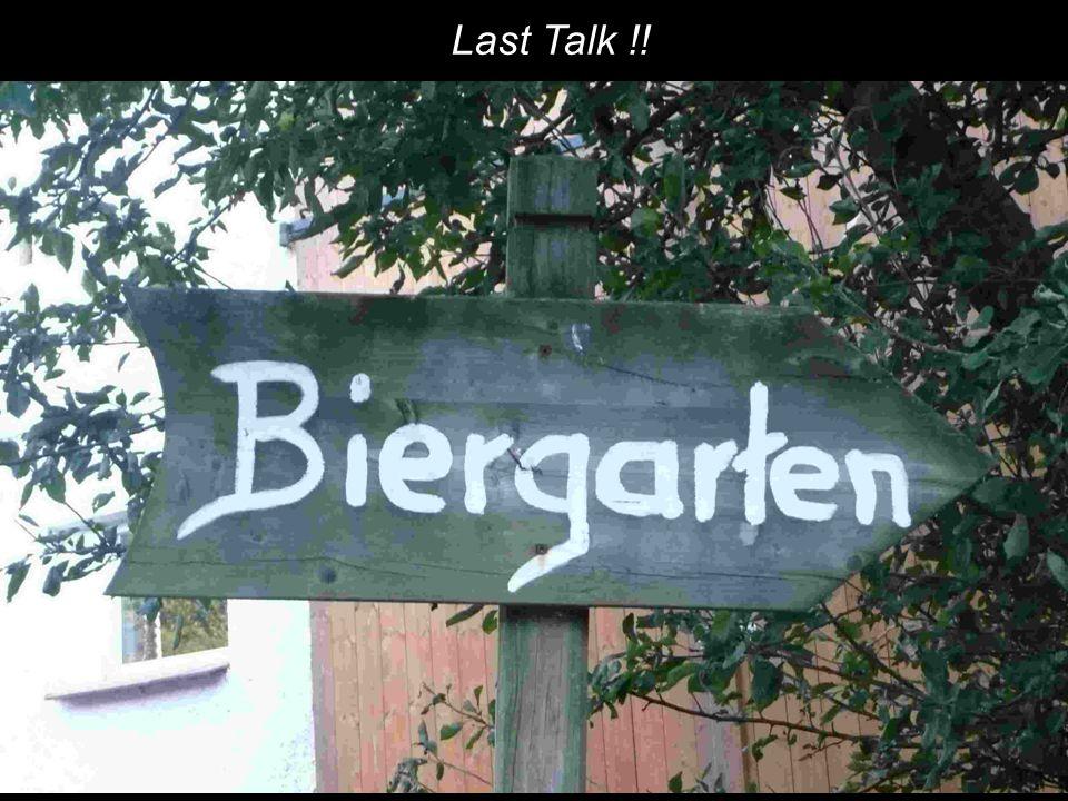 Last Talk !!