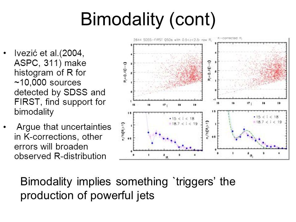 Origin of RLQ/RQQ Dichotomy: The Spin Paradigm Various bimodalities suggest fundamental difference between RLQ and RQQ, i.e., what turns on RLQs.