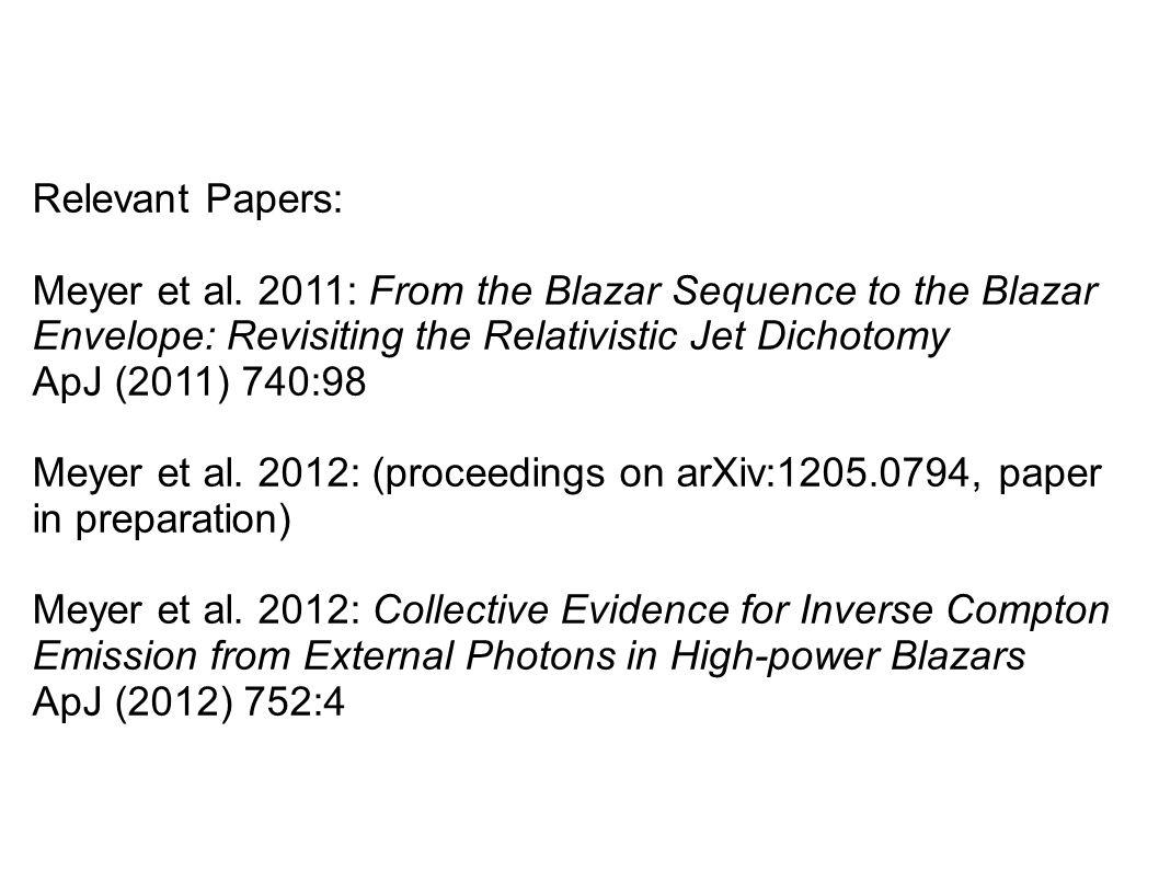 Relevant Papers: Meyer et al.