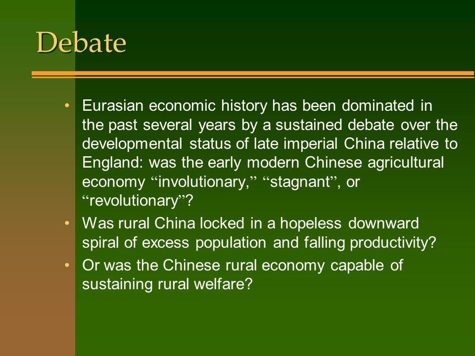 Regional comparisons Western Europe versus China.England versus lower Yangtze.