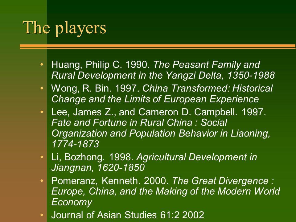 The Republican debate Rawski, Thomas G.1989. Economic Growth in Prewar China.