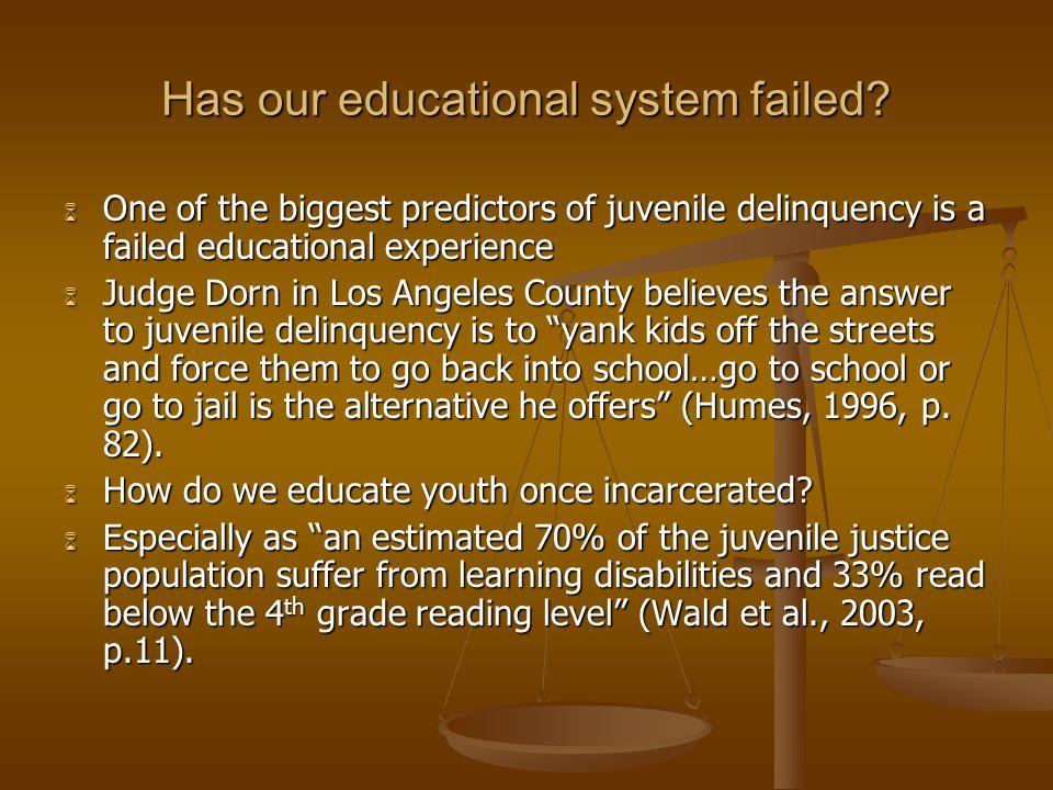 Has our educational system failed.