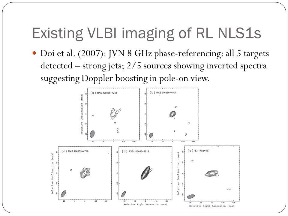 Existing VLBI imaging of RL NLS1s Doi et al.