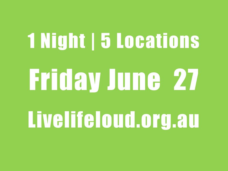 Mid North Live Life Loud Hosted at | Horizon School Time | BBQ 6.30pm / Finish 10pm Speaker | Scott Hawkins For more info contact Lee | 0429 621 143