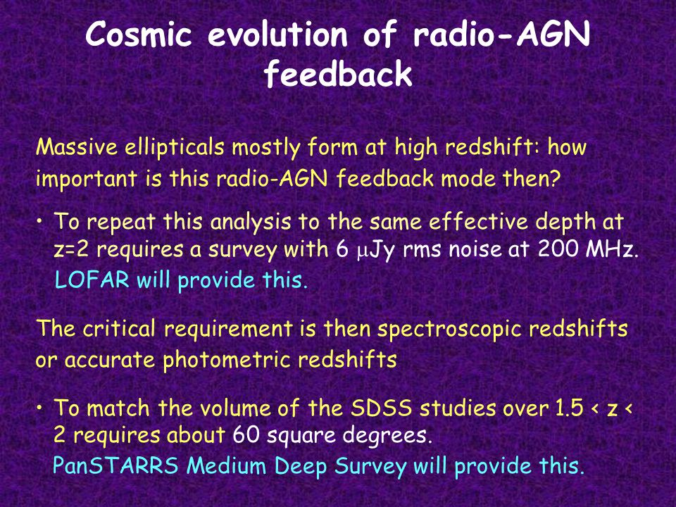Cosmic evolution of radio-AGN feedback Massive ellipticals mostly form at high redshift: how important is this radio-AGN feedback mode then.