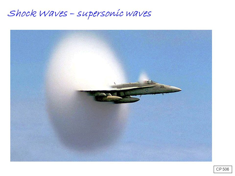 Shock Waves – supersonic waves