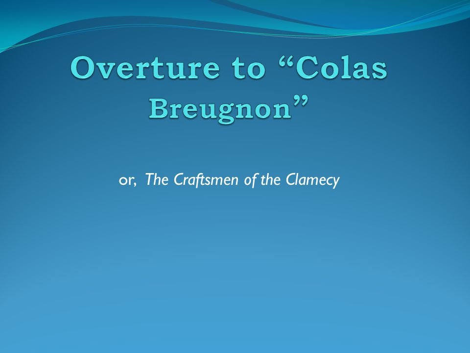 Interesting Facts Toscanini conducted Colas Breugnon all over the world in the 1940s and 50s, making it famous.