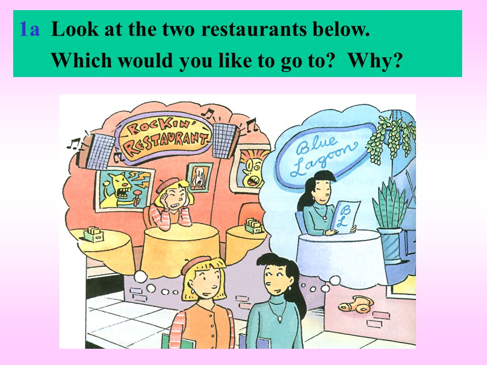 1a Look at the two restaurants below. Which would you like to go to? Why?