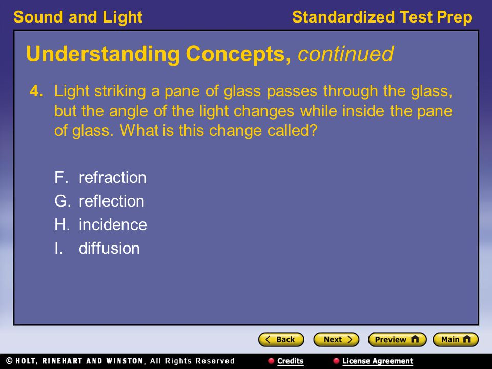 Sound and LightStandardized Test Prep Interpreting Graphics, continued 13.