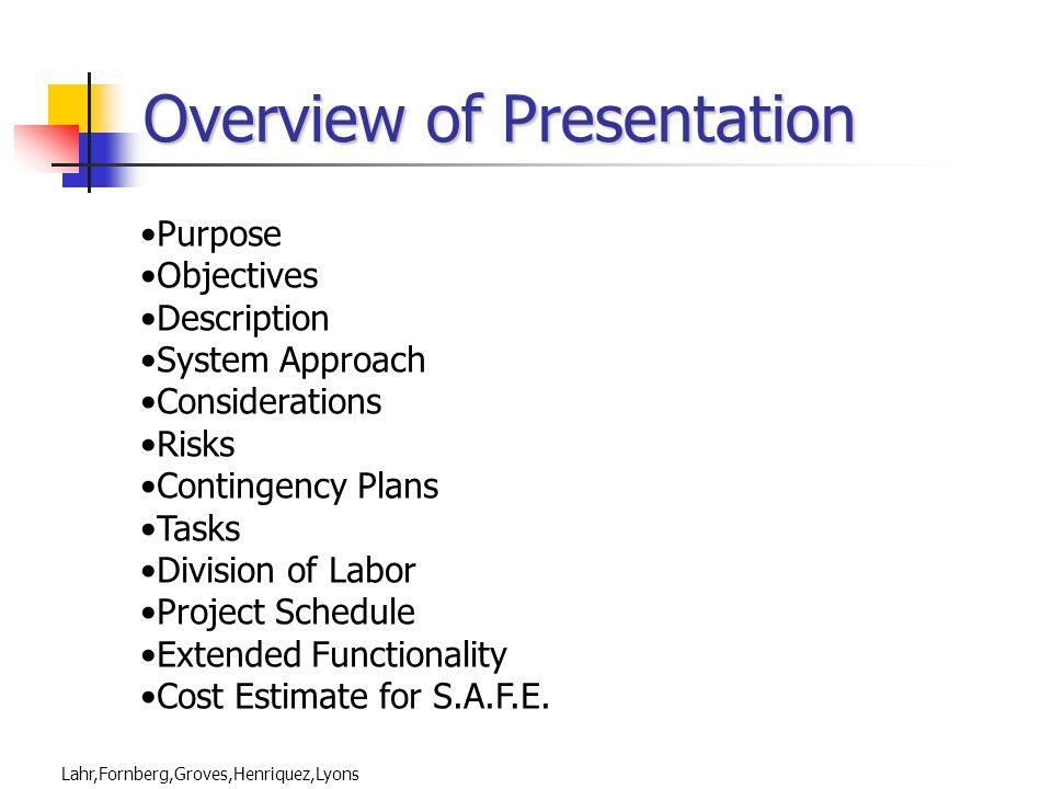 Lahr,Fornberg,Groves,Henriquez,Lyons 2004 CAPSTONE PDR TEAM S.A.F.E.