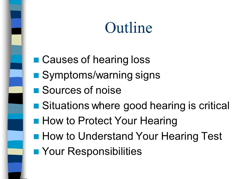 Conclusion Hearing loss is painless Hearing loss is not reversible The best type of hearing protection is the type that is worn correctly