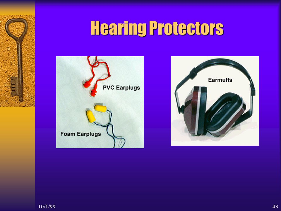 10/1/9942 Example of NRR Protection The noise at a large compressor is 109 dB You are wearing the Express plugs with an NRR of 25 Do you have enough protection to place you below 90 dB level