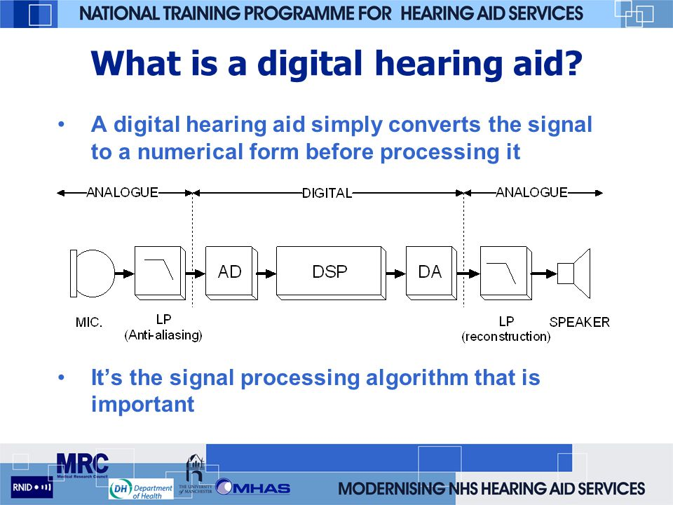 Therefore need to test at different levels: –50 dB SPL input - quite speech level –65 dB SPL input - moderate speech level –80 dB SPL input - loud speech level