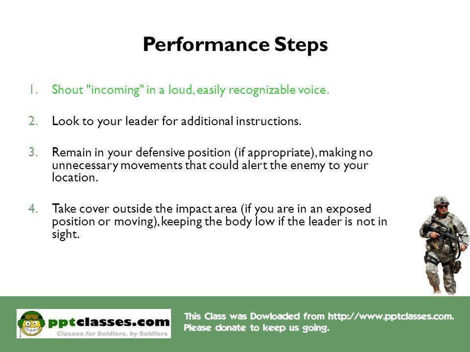 Performance Steps 1.Shout