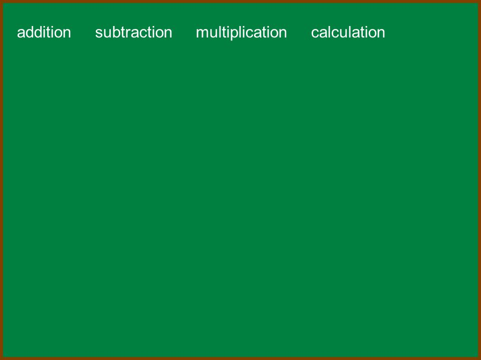 addition subtraction multiplication calculation