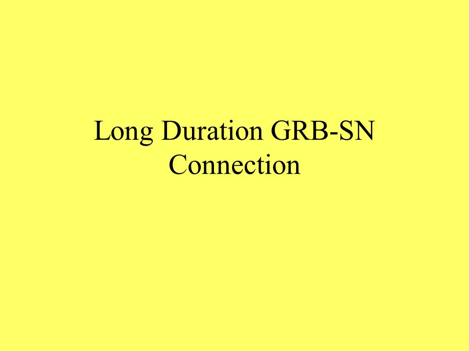 Long Duration GRB-SN Connection