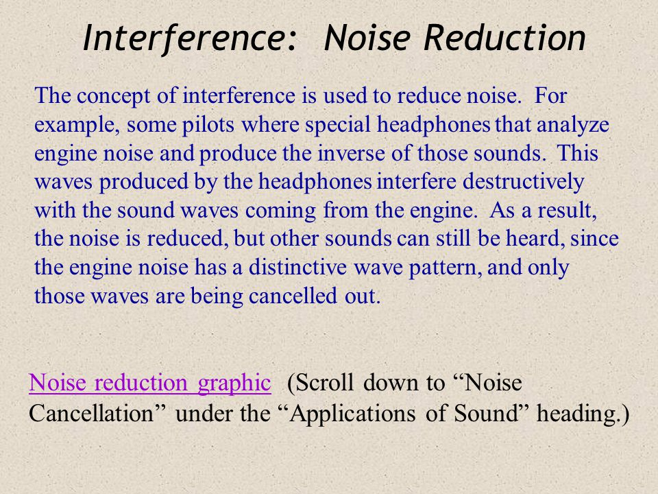 Interference: Sound Demo Listen to a pure tone (up to 1000 Hz) Using the link below you can play the same tone from each of your two computer speakers