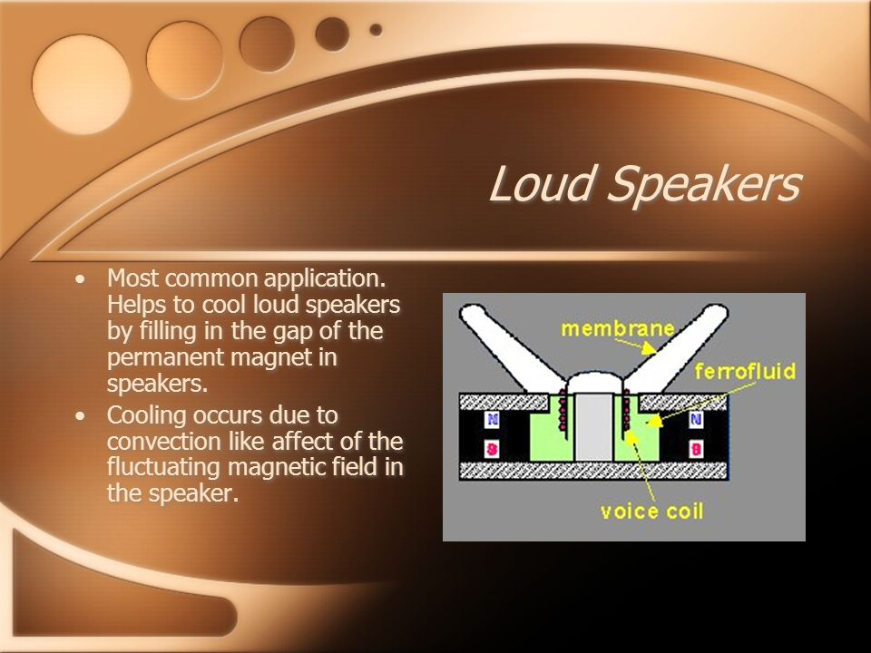 Loud Speakers Most common application.