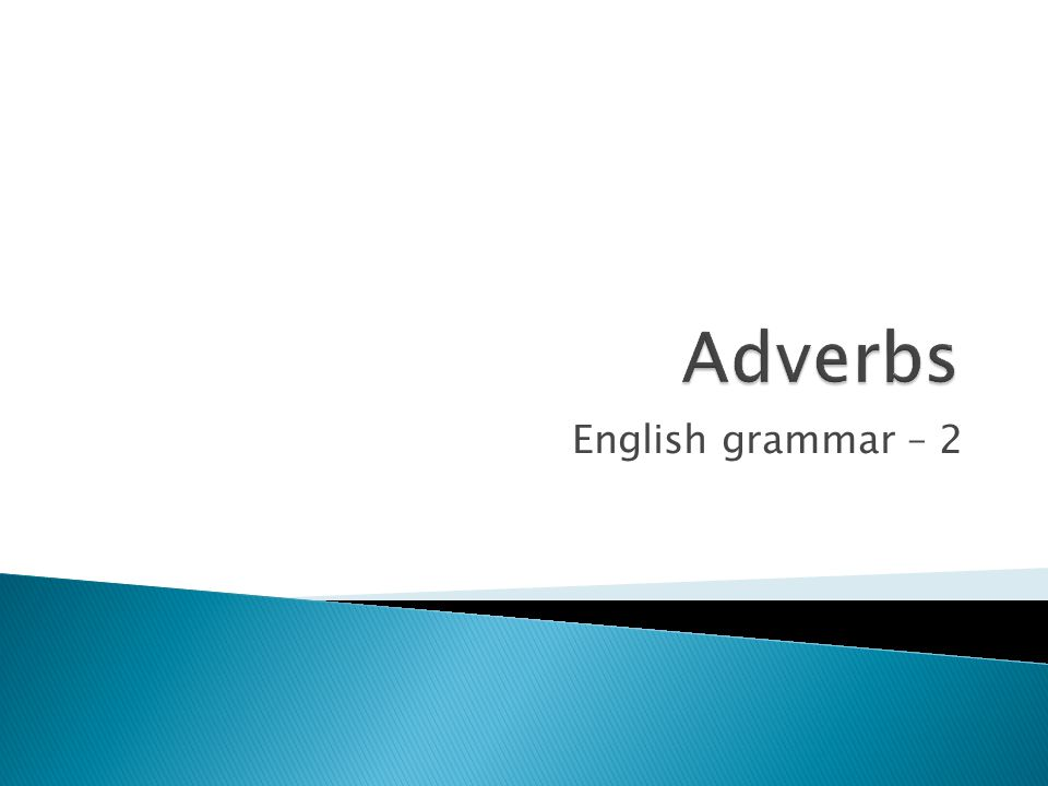 English grammar – 2